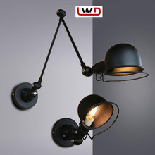 RetroIronWall LampSimple & ModernAdjustable Swing Arm for Wall Sconces Outdoor Wall Lights Reading Lamp Light swing arm sconces(China)