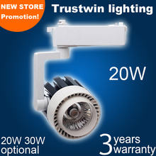 220V 230V 240V track spotlight LED rail spot light lamp COB 20W LED track light(China)