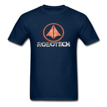 MACROSS ROBOTECH LOGO T Shirt Men ANIME Tee euro sizeS-XXXL(China)