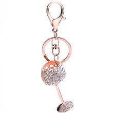3 Colors Fashion Casual Cup Keychain Bag Pendant Alloy Car Key Chain Ring Holder Jewelry Keyring Brand Keychains Retail