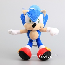 "Cartoon Sonic the Hedgehog Blue Color Plush Toy Soft Dolls Sonic Stuffed Animals Children Present 11"" 28 CM"