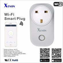 Xenon Smart Socket Wi-Fi Plug for Home Kit Smart Plug Works With Amazon Alexa and Google Assistant UK Plug Remote Control(China)