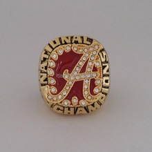 Solid Back 2009 Alabama Crimson Tide Saban SEC NCAA Football National Championship ring size 11 Gift