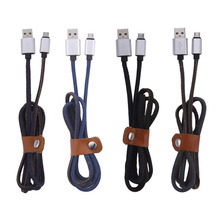 the latest micro usb cable for Android phones  V8 metal cowboy data charging line Micro USB charging cable