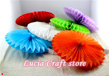 Lucia Crafts 20cm Multi colors options Paper fan windmill garland ball wedding party decoration 1piece/lot 048015034