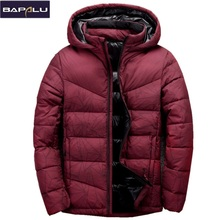 2017 New Winter Thick Down Jackets Men Brand Clothing Mens Casual 80% White Duck Down Spliced Coats Fashion Men Outerwear(China)