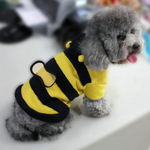 Pet Dog Cat Bumble Bee Wings Fleece Hoody Coat Costume Puppy  Clothes