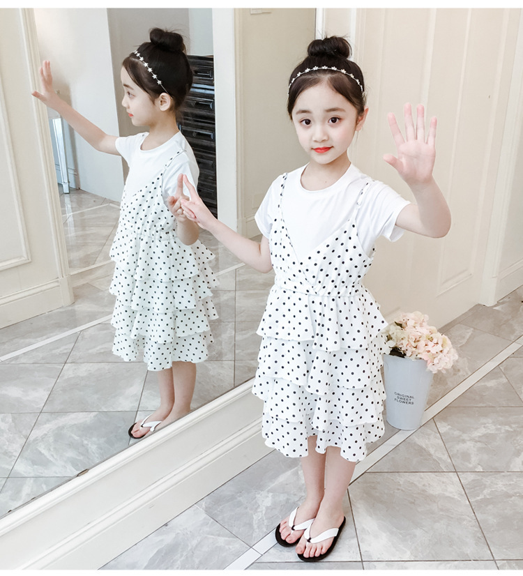 2 Pcs Teenage Girls Clothing Sets Kids Outfits Baby Girls Fashion Clothing Sets Kids Sleeveless Dress And T Shirts Clothes Suits 11 Online shopping Bangladesh