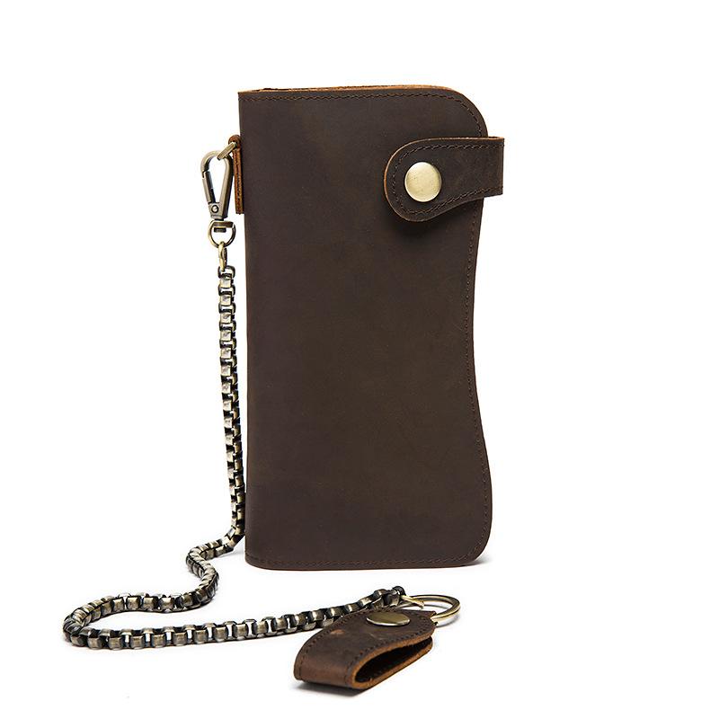 chain leather men wallets (3)