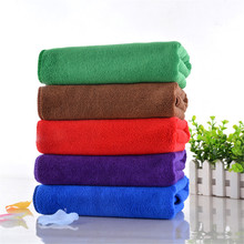 Soft Fiber Cotton Face Hand Car Cloth Towel House Cleaning tools Random Color Supplies Home Textile dry hair towel Dry Quickly(China)