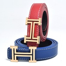 2017 fashion leisure designer Children's belt of boys and girls cowboy belts hing quality PU child belt Candy colors size 80CM