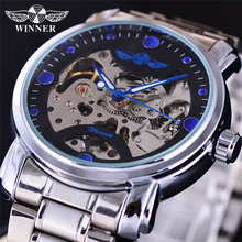 Winner Top Brand Luxury Mens Wrist Watch Men Military Sport Clock Automatic Mechanical Watches Male Business Skeleton Clock BOX