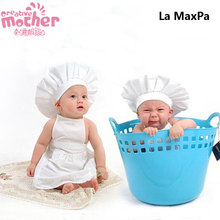 New Creative Kitchen Accessories For Baby Photography Suit Funny Baby Apron set Little Chef Photo Props Baby Clothing