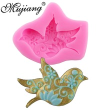 Dove Peace Resin Clay Candy Molds Fondant Chocolate Mold Silicone Cake Moulds Sugarcraft Cake Decorating Tools XL160