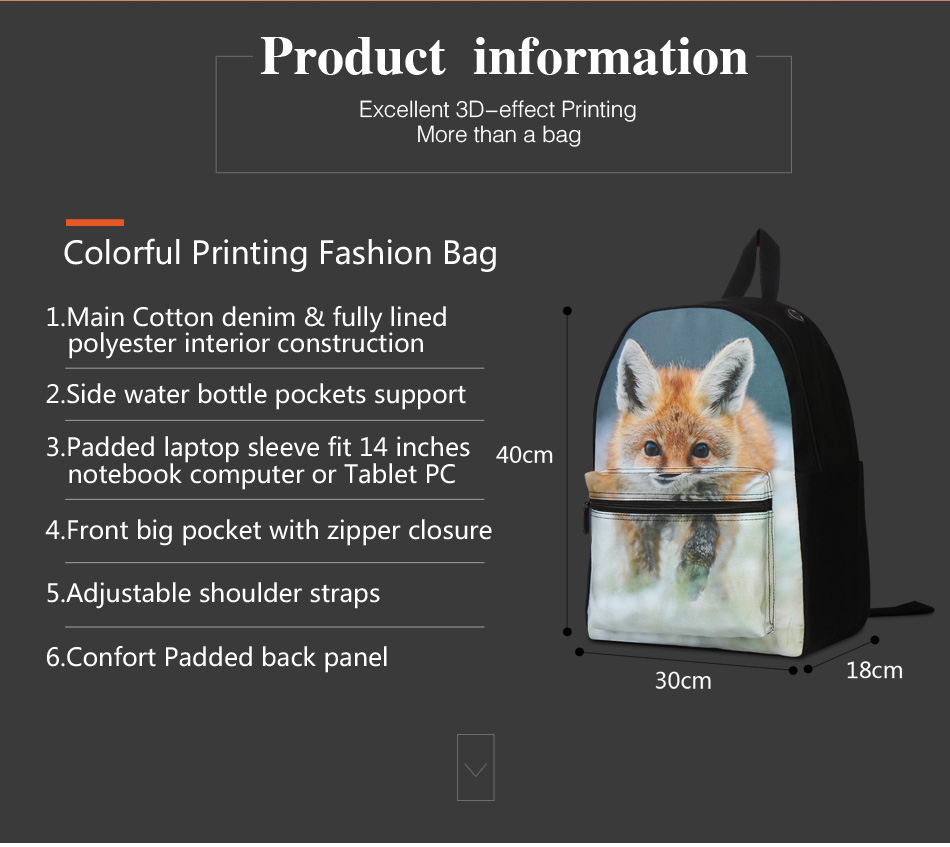 cotton school bag