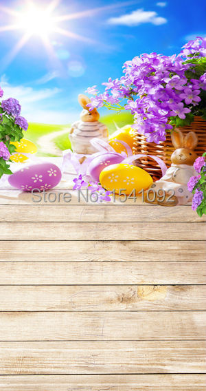1.5X3M Customize vinyl photography backdrop newborn easter wood computer print  background for photo studio F082<br><br>Aliexpress