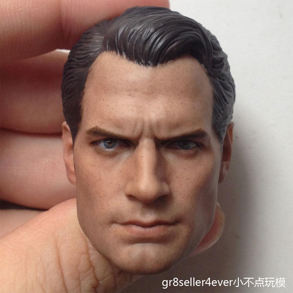 Custom 1//6 Henri Cavill Beard Edition Head Sculpt 12/'/' Phicen Body Action Figure