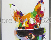 high quality house decoration products animal photos dogs paintings of modern art modern abstract oil painting ideas for home