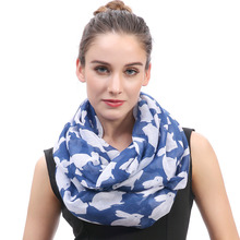 Rabbit Bunny Print Women's Infinity Loop Scarf Soft Lightweight for All Seasons Large Size Christmas Easter Day Gift