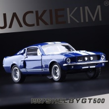 KiNSMART High Simulation Exquisite Collection Car Styling Ford 1967 Shelby GT500 Cobra 1:38 Alloy Car Model Best Gifts Toys