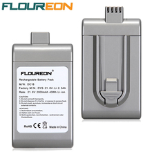 2000mAh FLOUREON Vacuum Cleaner Battery Rechargeable Packs Replacement Cordless Bateria for Dyson DC16 BP01 21.6V Li-ion(China)