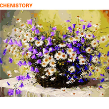 CHENISTORY Picture Purple Colorful Flower DIY Painting By Numbers Modern Wall Art Canvas Painting For Unique Gift Living Room(China)