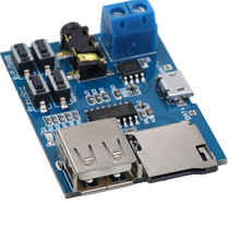 Hot sale TF card U disk MP3 Format decoder board module amplifier decoding audio Player Free shipping