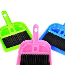2017 Durable And Cheap Mini Desktop Sweep Cleaning Brush Small Broom Dustpan Set Drop Shipping 420(China)
