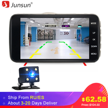 "Junsun H7 IPS 4"" Car DVR Camera Dual Lens with ADAS LDWS Full HD 1296P Car Distance warning Dashcam Video Recorder Registrar(China)"