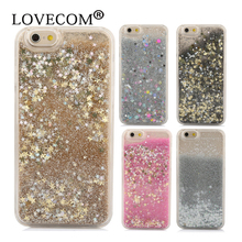 Hot For iPhone 7 7 Plus 6 6S Plus 5C 5S SE Phone Case Dynamic Liquid Glitter Star Quicksand Colorful Sequin PC Hard Back cover