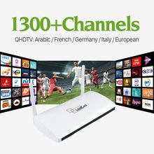 Smart Android TV Box with 1 Year Free IPTV Subscription Qhdtv Arabic French Italy Europe Germany 1300 IPTV Channels Set Top Box
