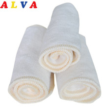 (10pcs/lot) Alvababy Reusable and Washable anti-bacterial 3 layers Bamboo Insert