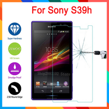 Buy Tempered glass screen protector sony xperia s39h cs39h 2305 s39 c2304 c2305 2.5d premium protective films case protector for $1.42 in AliExpress store