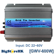 MPPT Function 600W on Grid Tie Inverter 30V 36V Panel 60 72 Cells MPPT pure sine wave inverter 220V Output(China)