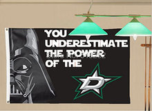 Dallas Stars Star wars Flag 150X90CM NHL 3x5FT Banner 100D Polyester grommets Custom6038,free shipping