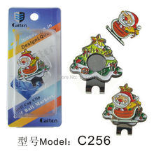 Free Shipping Brand New Santa Claus Golf Ball Marker Plus Golf Hat Clip, Magnetic Ball Mark.