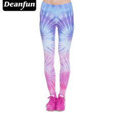 Deanfun Women's Stretchy Digital 3D Printed Plus Size Leggings Footless k37(China)