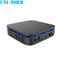 Unistorm AK1 Win10 MINI PC Intel Apollo Lake Celeron J3455 4G/32G BT4.0 5.8G WIFI 4K HDMI 2.0 Windows 10 TV Box support 2.5''HDD