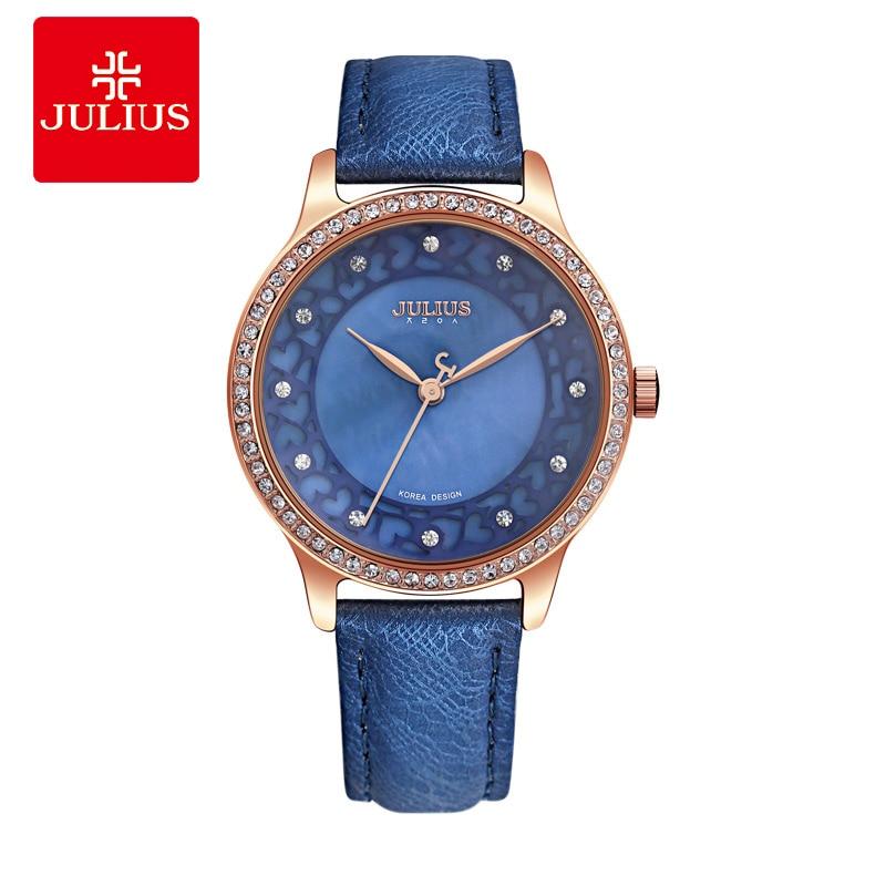 JULIUS Fashion Womens Watch Stainless Geneva Rose Luxury Designer Brand Women Whatches Stylish Ladies Classic Casual E1<br>