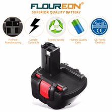 FLOUREON 2 607 335 262 Battery for Bosch GDR 12 V GLI 12V,GSB 12 VE-2,PSR 1200,PSR 12VE-2 12V 3000mAh Ni-MH Power Tool Battery(China)