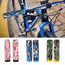 Camouflage Pattern Bicycle Grip Soft Anti-slip Shockproof Fastening Foam Bicycle Handlebar Grips MTB Handlebar Cover(China)
