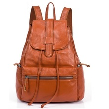 Genuine Leather Backpack Women Designer bags High Quality Shoulder Bags New School Bags Teenagers Girls sac 2Colors