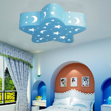 Star moon children room LED Ceiling Lights boy girl Princess bedroom cartoon energy saving eye LED five pointed star LU721179(China)