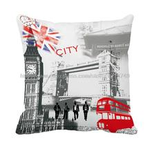 London city with England flag printed grey decorative Europe cushion covers almofadas decorate throw pillow case for sofa chair