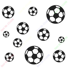 Free shipping New 23 FOOTBALL Soccer Ball Boys Wall Stickers Home Kid Room Sticker decals sticker(China)