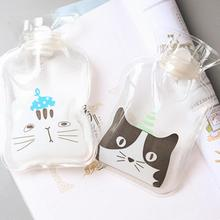 11Style Lovely Cartoon Animals Transparent Hot Water Pocket Girls Kids Feet Hand PVC Hot Water Bag For Winter Warmer Bottle 3(China)