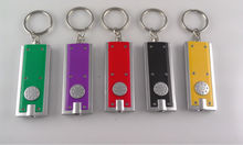 Wholesale 500pcs Mini Keychain Pocket Torch Tetris LED Flashlight Light Lamp Mini-Torch can Customize your logo(China)