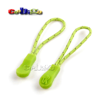 10pcs Pack Zipper Pull Cord Strap Fastener Colorful Camping Outdoor Backpack Gym Suit Garment Bag Parts Accessories Size 56x8mm