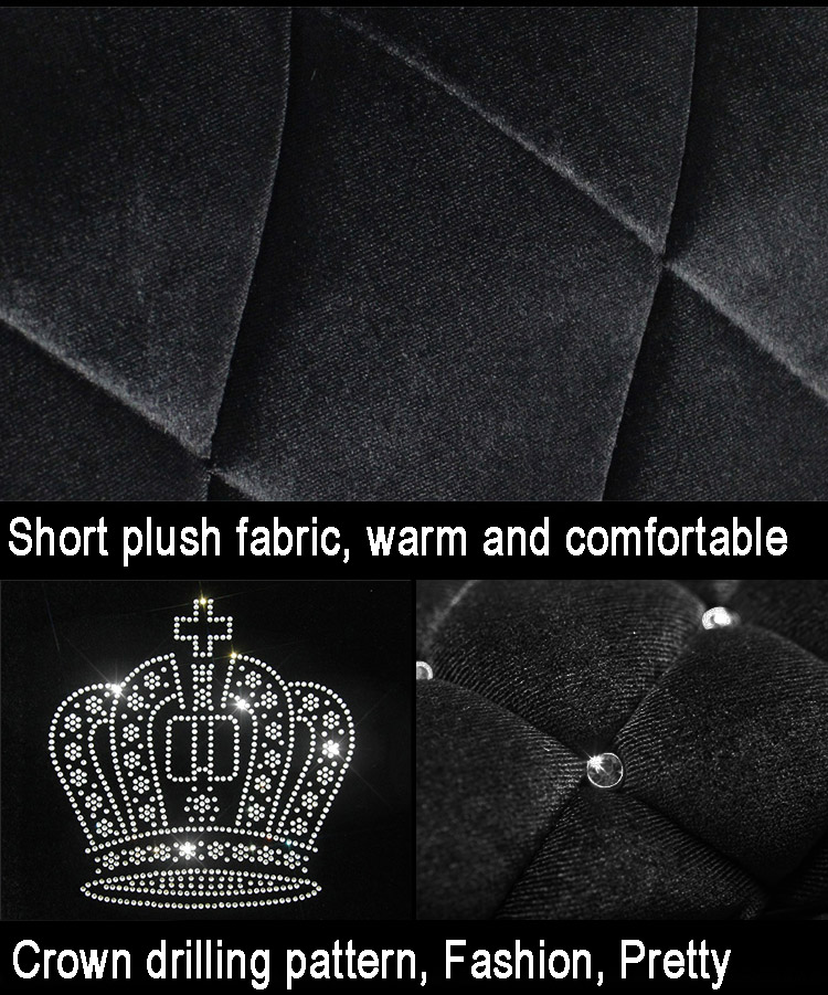 Styling-Stud-Crystal-Plush-Car-Seat-Covers-Universal-Cute-Car-Interior-Accessories-Cushion-Black-11