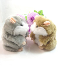 Free shipping Hot Sale!!!!Super Likable Hamster Copy Voice Pet Recorder Talking Plush Toy,funny lovely toys HT216